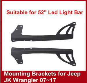 2007 2017 For Jeep Wrangler Jk 52 Inch Led Light Bar Windshield Mounting Bracket