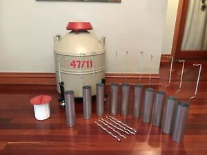 Mve Xc 47 11 Nitrogen Dewar Cryogenic Storage Tank 10 Canisters And Cart
