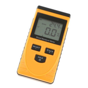 Gm630 Digital Lcd Damp Moisture Meter Detector Tester Wood Timber Sensor