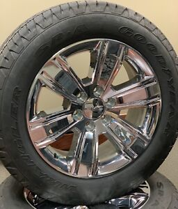 Gmc Pickup Denali Yukon 20 Chrome Take Off Wheels Tires