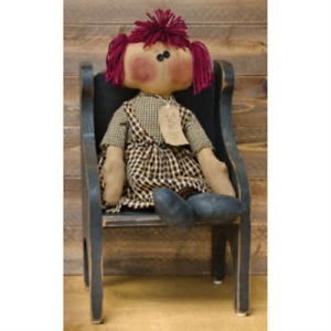 Primitive Penelope Doll Country Fabric Farmhouse Folk Art Collectible Rustic