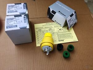 3 New Daniel Woodhead Model 1301470027 Watertite Plug L15 20 20 Amp 3 Phase 250