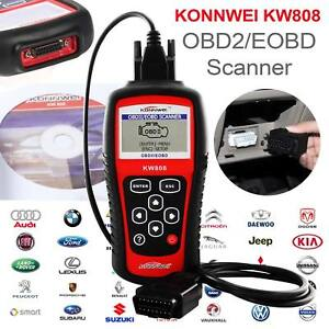Konnwei Obdii Eobd Scanner Car Code Reader Tester Diagnostic Ms509 Kw808