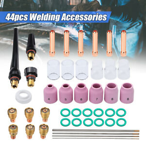 44x Tig Welding Torch Stubby Gas Lens 10 12 Pyrex Glass Cup Kit F Wp 9 20 25