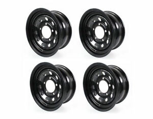 Land Rover Discovery 2 Black Modular 16 X 8 Steel Road Wheel Set X4 Grw012 New