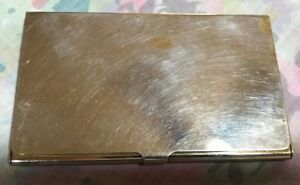 Vintage Tiffany Co Business Card Case Holder Sterling Silverplate