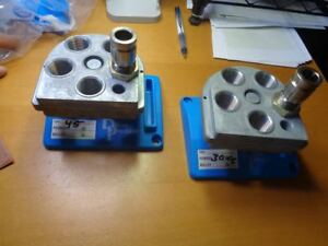 Dillon Precision XL 650 Toolhead Powder Die and Stand - Lot of 2 Sets