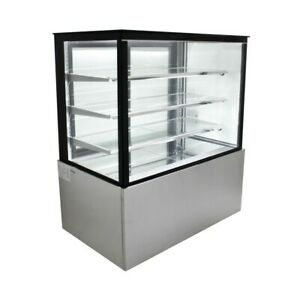 Refrigerated Glass Sided Bakery Cake Display Case Floor Standing 48 Wide