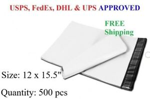 500 Pcs 12 X 15 5 Poly Mailer Plastic Envelope Shipping Bag 2 3 Mil wholesale