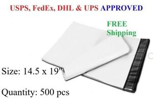 500 Pcs 14 5 X 19 Poly Mailer Plastic Envelope Shipping Bag 2 3 Mil wholesale