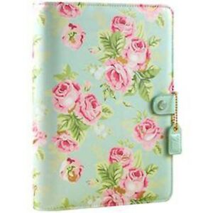 Mint Floral Color Crush A5 Faux Leather 6 ring Planner Binder 7 5 x10