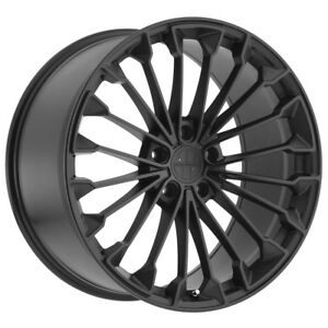 20 Inch Victor Wurttemburg 20x10 5x130 50mm Matte Gloss Black Wheel Rim