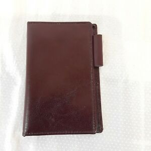 Vintage Day Timer Senior Pocket Wallet Brown Polished Calf Leather No Inserts