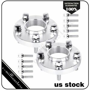 2pcs 20mm Thick 5x112 66 6mm 12x1 5 Studs Wheel Spacers Adapters Fits Mercedes