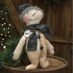 Primitive Vintage Benny Snowman Doll Country Winter Christmas Holiday Rustic