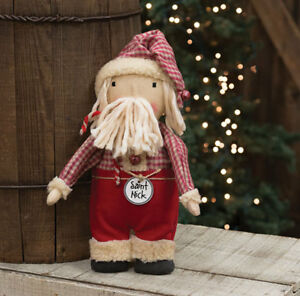 Primitive Saint Nick Doll Country Santa Claus Winter Christmas Holiday Rustic
