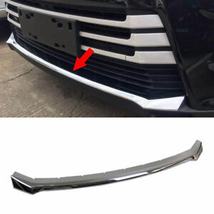 For Toyota Highlander 2017 2018 Chrome Grille Bumper Protector Guard Cover Trim