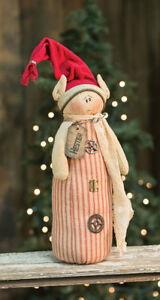 Primitive Hester Salvage Elf Doll Country Farmhouse Winter Christmas Holiday