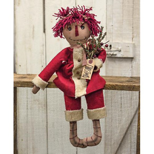 Primitive Christmas Annie Doll Country Farmhouse Rustic Winter Holiday