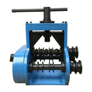 Manual Pipe Tube Ring Roll Bender Band Roller Flat Square Round