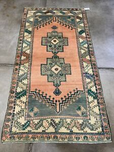 Anatolian Cappadocia Turkish Rug High Pile Excellent Condition 3 9x7 3 Runner