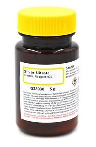 Acs grade Silver Nitrate Reagent Crystals 5g The Curated Chemical Coll New