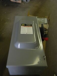 Square D Hu363 New Safety Switch Disconnect 100 Amp 600 Volt No fuse Indoor