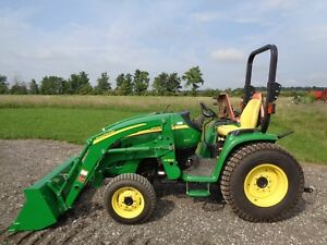 2006 John Deere 3320 Tractor Jd H160 Front Loader 4wd Hydro Only 90 Hours