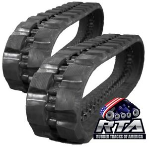 Two Rubber Tracks For Bobcat T830 T870 450x86x58 Staggard Block Pattern Tread