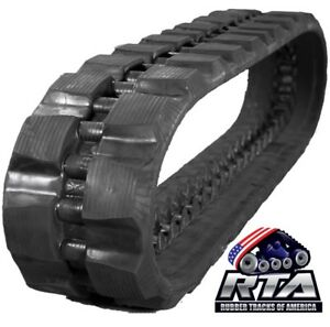 One Rubber Track For Bobcat T830 T870 450x86x58 Staggard Block Tread Pattern