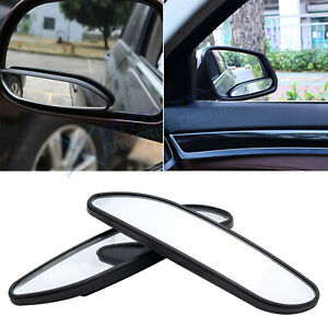 Set 4 7 Rear View Adjust Stick On Side Wide Angle Auxiliary Blind Spot Mirrors