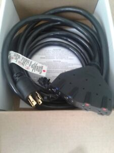 Generac 30 Amp Portable Generator Extension Cord 4 120v Outlets