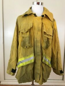 Barrier wear Wildland Brush Firefighter Jacket W Reflector Stripes Size Large
