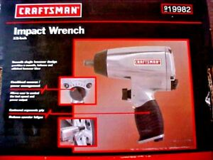 Craftsman 1 2 Drive Air Pneumatic Impact Wrench 19982 New In Box