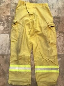 Tmo Firefighter Brush Wildland Pants Yellow Reflector Size Xl