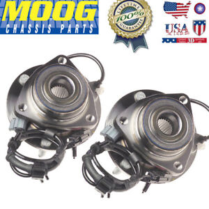 Set Of 2 Moog Brand New Complete Front Gm Vehicles Wheel Hub Bearing Assembly