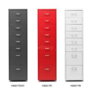 Top Metal Drawer Filing Cabinet Mobile File Cabinets W 8 Drawers 4 Casters N2r9