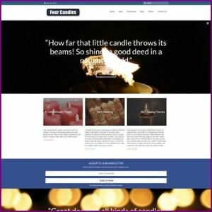 Candles Dropship Website Business For Sale Commission On Each Sale