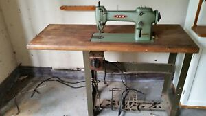 Rex Industrial Sewing Machine With Table no Motor Read Description
