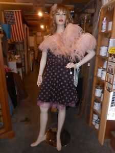 Female Mannequin With Adjustable Arms And Metal Baase
