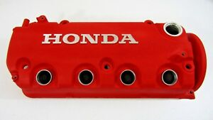 Wrinkle Red Type R Finish Honda Civic Valve Cover Vtec Sohc Oem D16y8 D16y7