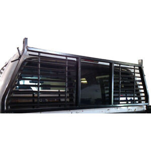 H0003b Trail Fx Headache Rack W Window Black Silverado Ram F150 Tundra
