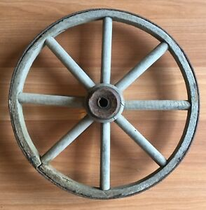 Old Vtg Antique Carriage Wagon Buggy Cart Wood Spoke Primitive 13 Wheel
