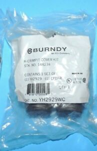 Burndy Crimpit H tap Copper Connector Black Cover Yh2929wc Yh2929 Sealed Nip Usa