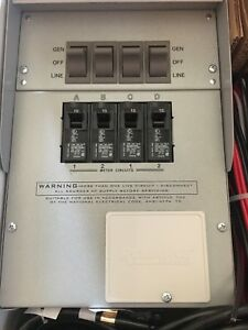 Reliance Controls Pro tran 2 15 amp 120v 4 circuit Outdoor Transfer Switch