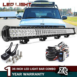 36 Inch 234w Led Work Light Bar Spot Flood Combo Offroad 4wd Utv Lamp Wiring Kit