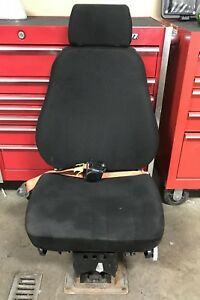 National Air Ride Seat 3 Way Air Adjusting 2006 Volvo Vnl Truck Black Cloth