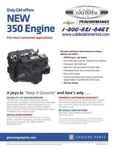 Chevrolet Gm Goodwrench 350ci Engine Oem Free Shipping 10067353 12681429