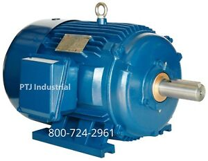 1 5 Hp Electric Motor 143t 3600 Rpm 3 Phase Premium Efficient Severe Duty