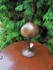 Antique Roycroft Helmet Table Lamp W5145 Stickley Era
